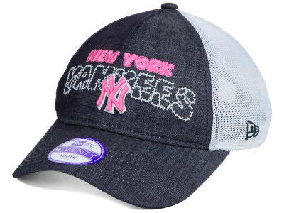 New York Yankees New Era MLB Youth Denim Stitcher 9TWENTY Cap