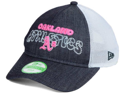 Oakland Athletics New Era MLB Youth Denim Stitcher 9TWENTY Cap