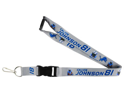 Detroit Lions Calvin Johnson Player Lanyard