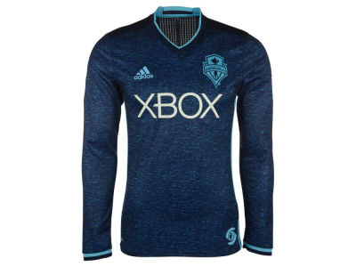 Seattle Sounders FC adidas MLS Men's Third Authentic Long Sleeve Jersey