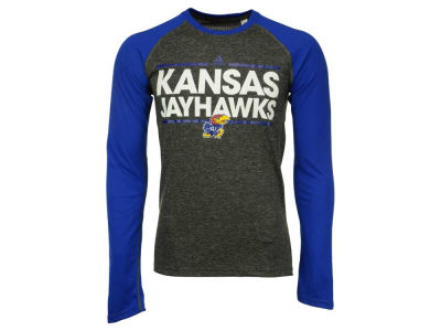 Kansas Jayhawks adidas NCAA Men's Dassler Long Sleeve Raglan T-Shirt