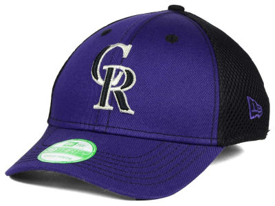 Colorado Rockies New Era MLB Jr Team Front Neo 39THIRTY Cap