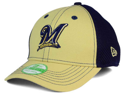 Milwaukee Brewers New Era MLB Jr Team Front Neo 39THIRTY Cap