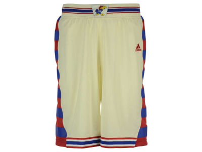 Kansas Jayhawks adidas NCAA Men's HWCN Throwback Replica Basketball Shorts
