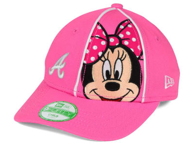Atlanta Braves New Era MLB Face Front Minnie 9FORTY Cap