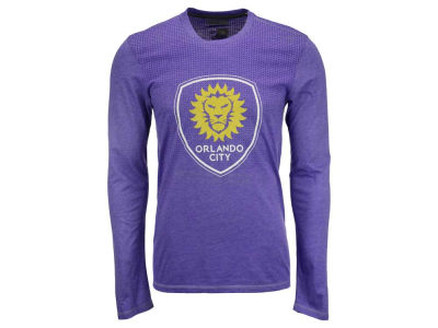 Orlando City SC adidas MLS Men's Crest Authentic Long Sleeve T-Shirt