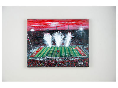 Ohio State Buckeyes 14x18 Script Ohio Canvas Print