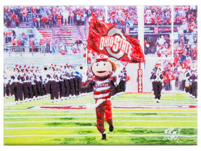 Ohio State Buckeyes 10x14 Canvas Print