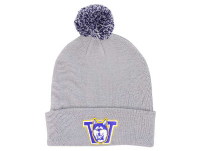 Washington Huskies Zephyr NCAA Basic Team Color Pom Knit