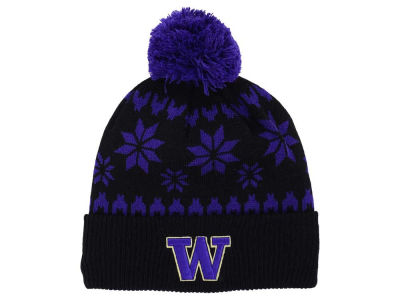 Washington Huskies Zephyr NCAA Snowflake Pom Knit