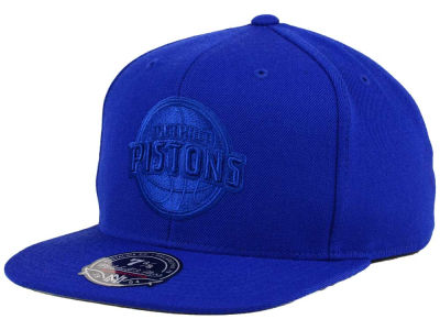 Detroit Pistons Mitchell and Ness NBA Tonal TC Hi Crown Fitted Cap