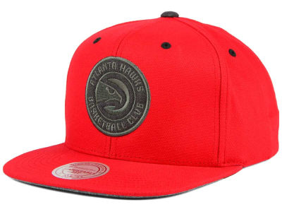 Atlanta Hawks Mitchell and Ness NBA Grey Tonal Logo Snapback Cap