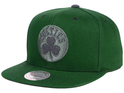 Boston Celtics Mitchell and Ness NBA Grey Tonal Logo Snapback Cap