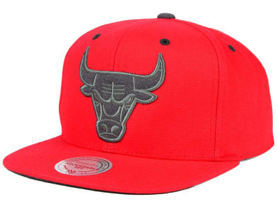 Chicago Bulls Mitchell and Ness NBA Grey Tonal Logo Snapback Cap