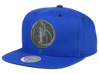 Dallas Mavericks Mitchell & Ness NBA Grey Tonal Logo Snapback Cap