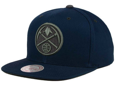 Denver Nuggets Mitchell and Ness NBA Grey Tonal Logo Snapback Cap