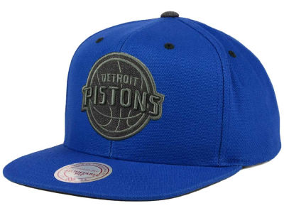 Detroit Pistons Mitchell and Ness NBA Grey Tonal Logo Snapback Cap