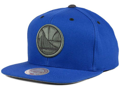 Golden State Warriors Mitchell and Ness NBA Grey Tonal Logo Snapback Cap