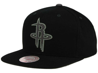 Houston Rockets Mitchell and Ness NBA Grey Tonal Logo Snapback Cap