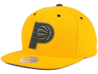 Indiana Pacers Mitchell and Ness NBA Grey Tonal Logo Snapback Cap