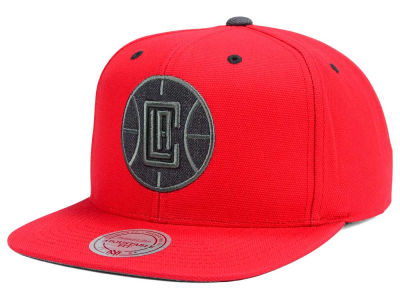Los Angeles Clippers Mitchell and Ness NBA Grey Tonal Logo Snapback Cap
