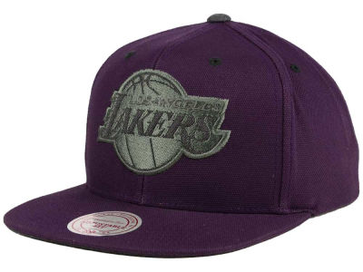 Los Angeles Lakers Mitchell and Ness NBA Grey Tonal Logo Snapback Cap
