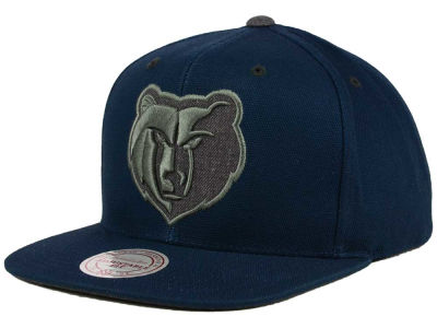 Memphis Grizzlies Mitchell and Ness NBA Grey Tonal Logo Snapback Cap