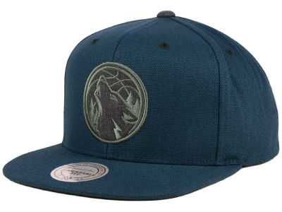 Minnesota Timberwolves Mitchell and Ness NBA Grey Tonal Logo Snapback Cap