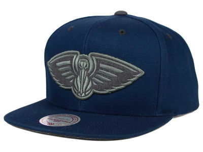 New Orleans Pelicans Mitchell and Ness NBA Grey Tonal Logo Snapback Cap