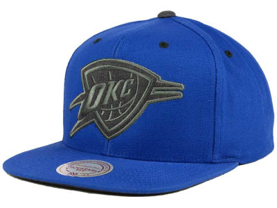Oklahoma City Thunder Mitchell and Ness NBA Grey Tonal Logo Snapback Cap