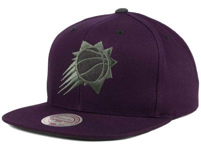 Phoenix Suns Mitchell and Ness NBA Grey Tonal Logo Snapback Cap