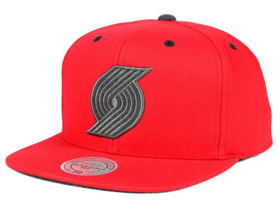 Portland Trail Blazers Mitchell and Ness NBA Grey Tonal Logo Snapback Cap