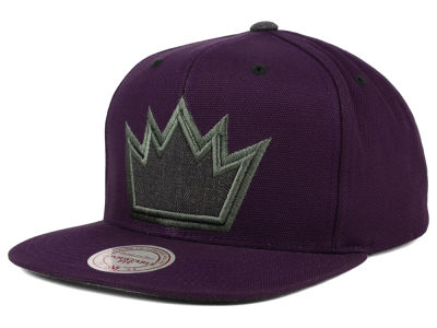 Sacramento Kings Mitchell and Ness NBA Grey Tonal Logo Snapback Cap