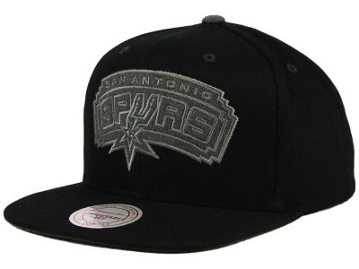 San Antonio Spurs Mitchell and Ness NBA Grey Tonal Logo Snapback Cap