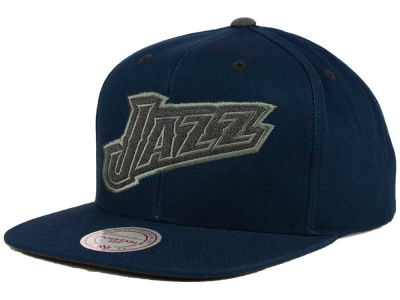 Utah Jazz Mitchell and Ness NBA Grey Tonal Logo Snapback Cap
