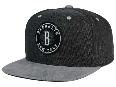 Brooklyn Nets Mitchell and Ness NBA Cation Perforated Suede Snapback Cap