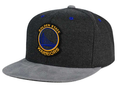 Golden State Warriors Mitchell and Ness NBA Cation Perforated Suede Snapback Cap