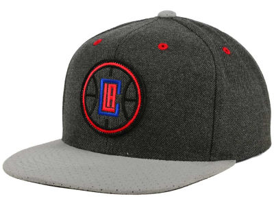Los Angeles Clippers Mitchell and Ness NBA Cation Perforated Suede Snapback Cap