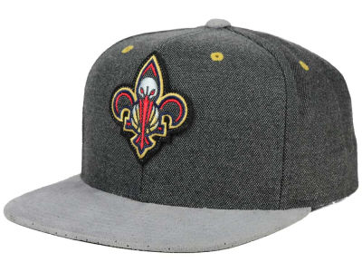 New Orleans Pelicans Mitchell and Ness NBA Cation Perforated Suede Snapback Cap