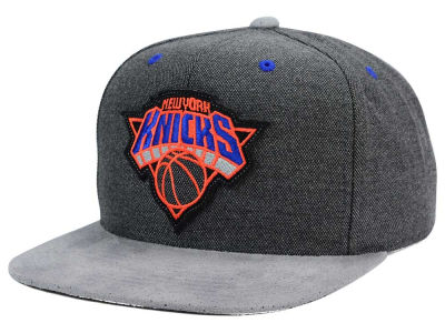 New York Knicks Mitchell and Ness NBA Cation Perforated Suede Snapback Cap