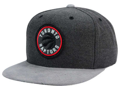 Toronto Raptors Mitchell and Ness NBA Cation Perforated Suede Snapback Cap