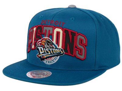 Detroit Pistons Mitchell and Ness NBA Reflective Tri Pop Snapback Cap