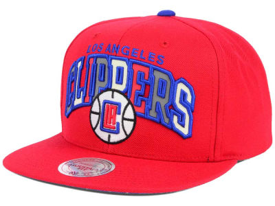 Los Angeles Clippers Mitchell and Ness NBA Reflective Tri Pop Snapback Cap