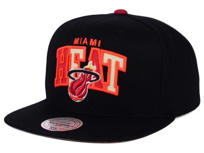 Miami Heat Mitchell and Ness NBA Reflective Tri Pop Snapback Cap