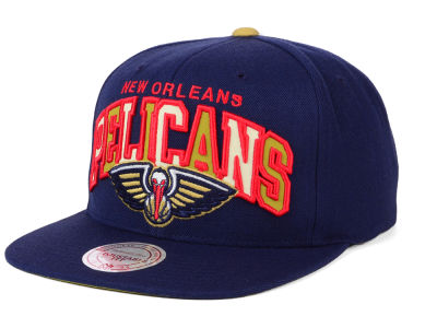 New Orleans Pelicans Mitchell and Ness NBA Reflective Tri Pop Snapback Cap