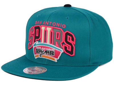 San Antonio Spurs Mitchell and Ness NBA Reflective Tri Pop Snapback Cap