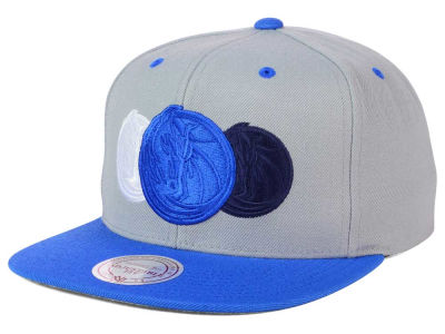 Dallas Mavericks Mitchell and Ness NBA Triple Color Stack Snapback Cap