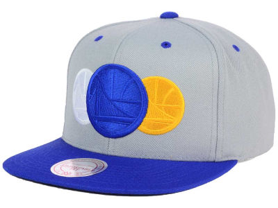 Golden State Warriors Mitchell and Ness NBA Triple Color Stack Snapback Cap