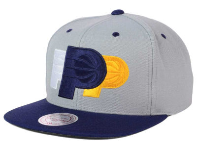 Indiana Pacers Mitchell and Ness NBA Triple Color Stack Snapback Cap
