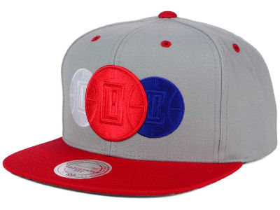 Los Angeles Clippers Mitchell and Ness NBA Triple Color Stack Snapback Cap